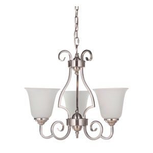 Cecilia Brushed Satin Nickel 20-Inch Three-Light Chandelier