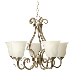 Cecilia Brushed Satin Nickel Five-Light Chandelier