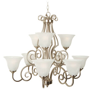 Cecilia Brushed Satin Nickel Nine-Light Chandelier