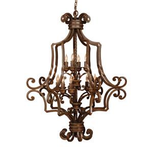 Riata Aged Bronze Large Lantern Pendant
