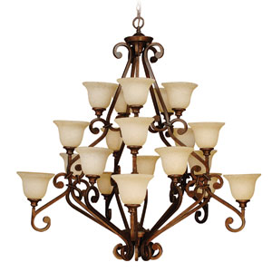 Large Chandelier in Peruvian Finish