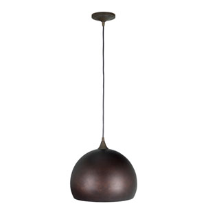 Aged Bronze One-Light Pendant with Aged Bronze Shade