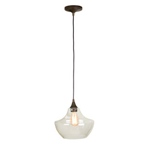 Aged Bronze One-Light 11-Inch Pendant