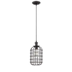 Matte Black 79.50-Inch High One-Light Mini-Pendant
