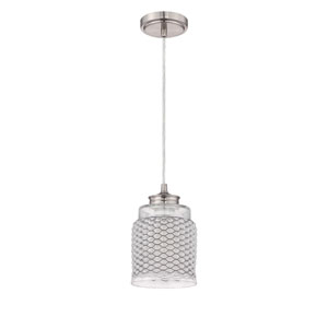 Brushed Nickel One-Light Mini Pendant