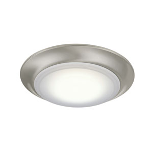 Brushed Nickel LED Flush Mount with Frosted PC Glass Shade
