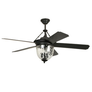Cavalier Aged Bronze Brushed 52-Inch Outdoor Ceiling Fan With Aged Bronze Blades
