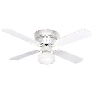 Celeste White 42 Inch Blade Span Ceiling Fan, Blades And Light Kit