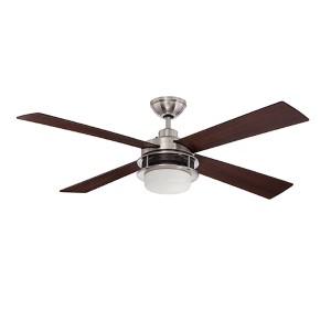 Urban Breeze Brushed Polished Nickel 52-Inch Two-Light Ceiling Fan