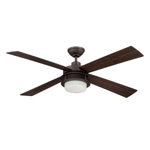 Urban Breeze Espresso 52-Inch Ceiling Fan with LED Light Kit