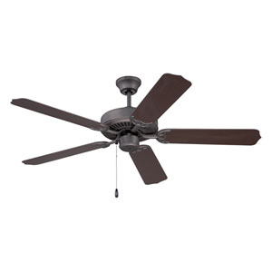 Enduro Espresso 52-Inch Outdoor Ceiling Fan With Outdoor Brown Blades