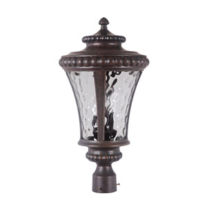 Prescott II Peruvian Bronze Outdoor Post Mount