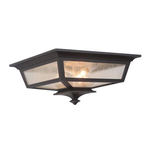 Argent II Midnight Three-Light Outdoor Ceiling Mount