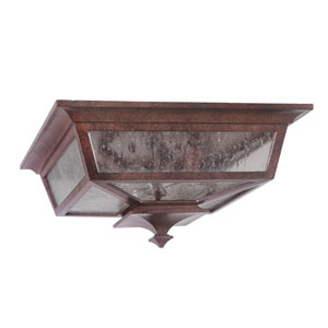 Argent II Aged Bronze Outdoor Flush Mount