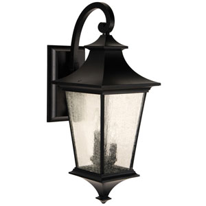 Argent II Midnight Three-Light Outdoor Wall Mount