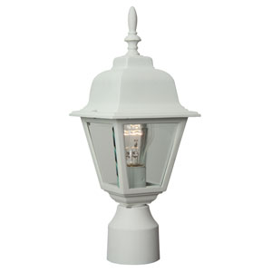 Coach Lights Matte White Outdoor Post Mount