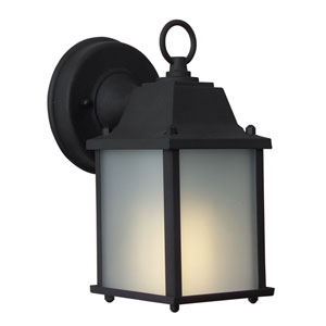 Coach Lights Matte Black One-Light Fluorescent Outdoor Wall Mount