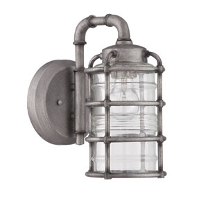 Hadley Aged Galvanized Six-Inch Outdoor Wall Sconce