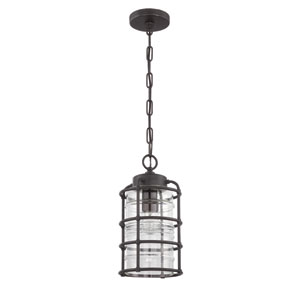 Hadley Aged Bronze Brushed One-Light Outdoor Pendant