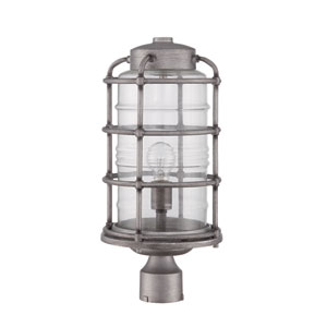 Hadley Aged Galvanized One-Light Outdoor Post Mount
