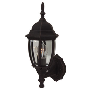 Bent Glass Rust Outdoor Wall Mount with Photocell