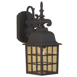 Grid Cage Matte Black One-Light Outdoor Wall Mount