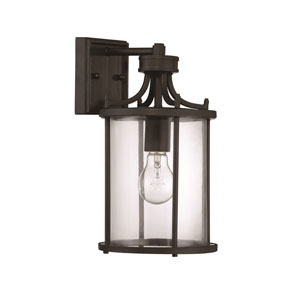 Carlton Aged Bronze Brushed One-Light Outdoor Wall Mount