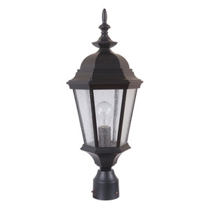 Chadwick Midnight One-Light Outdoor Post Mount