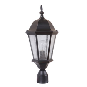 Chadwick Oiled Bronze Gilded One-Light Outdoor Post Mount