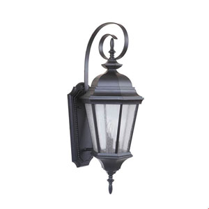 Chadwick Oiled Bronze Gilded Three-Light Outdoor Wall Mount