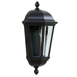 Britannia Oiled Bronze One-Light Outdoor Wall Mount with Clear Beveled Glass
