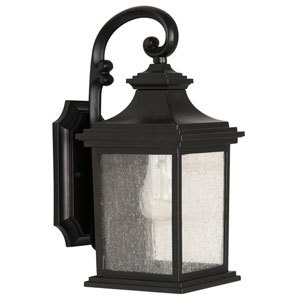 Gentry Midnight One-Light 13-Inch Outdoor Wall Mount