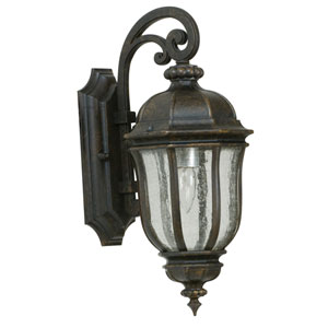 Harper Peruvian Bronze 8-Inch One-Light Outdoor Wall Bracket