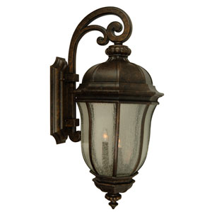 Harper Peruvian Bronze 9-Inch One-Light Outdoor Wall Bracket