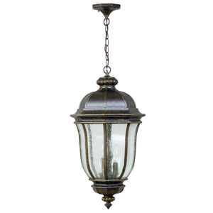 Harper Peruvian Bronze 12-Inch One-Light Outdoor Hanging Pendant