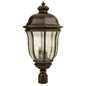 Harper Peruvian Bronze 12-Inch Three-Light Outdoor Post Head