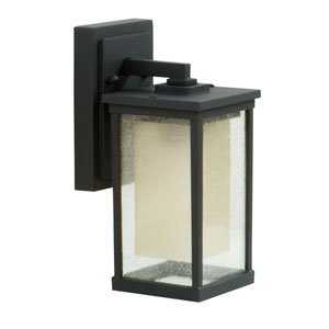 Riviera Oiled Bronze One-Light 11-Inch Outdoor Wall Mount with Double Shade
