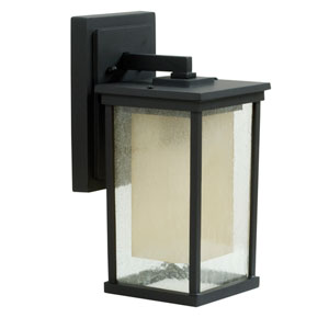 Riviera Oiled Bronze One-Light 14-Inch Outdoor Wall Mount with Double Shade