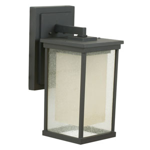 Riviera Oiled Bronze One-Light 17-Inch Outdoor Wall Mount with Double Shade