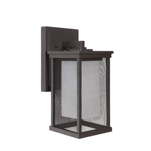 Riviera II Oiled Bronze One-Light 13-Inch Outdoor Wall Mount