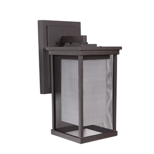Riviera II Oiled Bronze One-Light 17-Inch Outdoor Wall Mount