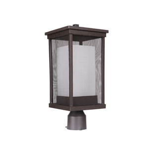 Riviera II Oiled Bronze One-Light Outdoor Post Mount