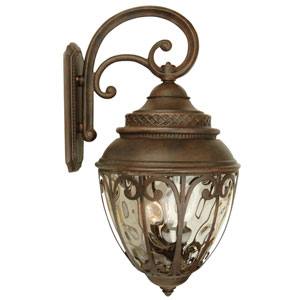 Olivier Aged Bronze Four-Light Outdoor Wall Mount with Champagne Hammered Glass