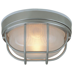 Bulkhead Stainless Steel One-Light Outdoor Ceiling Mount