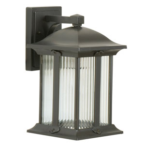 Summit Oiled Bronze One-Light 13-Inch Outdoor Wall Mount
