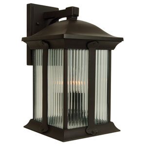 Summit Oiled Bronze Three-Light 16-Inch Outdoor Wall Mount