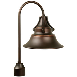 Union Oiled Bronze One-Light Outdoor Post Mount