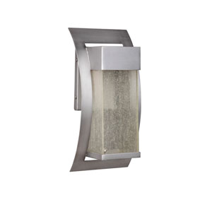 Ontario Brushed Titanium Five-Inch LED Outdoor Wall Sconce