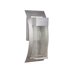 Ontario Brushed Titanium Six-Inch LED Outdoor Wall Sconce