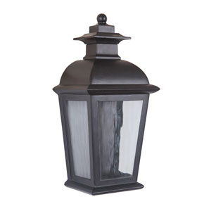 Branbury Oiled Bronze One-Light LED Outdoor Pocket Lantern with Clear Water Glass